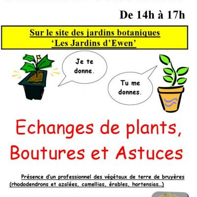 echange de plants octobre 2011